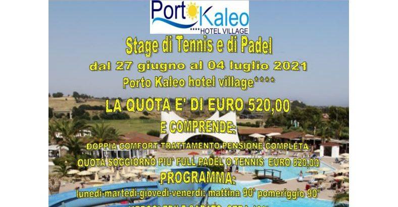 Porto Kaleo 27 giugno al 4 Luglio