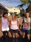 Tappa Polisportiva Anzio 2014 - da sinsitra vincitrice Ladies 50 Mangiocavallo con le  semifinaliste Petrinelli e Del Conte